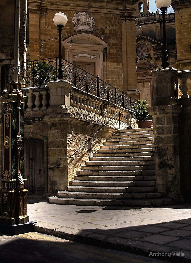 The Stairs of San Lorenzo in colour by Anthony Vella