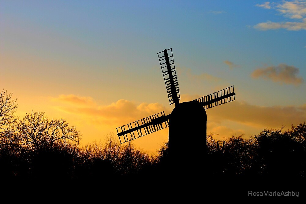 Sunset Windmill by RosaMarieAshby