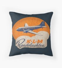 KLM airlines Throw Pillow