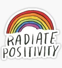strahlen Positivität aus Sticker