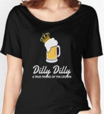Dilly Crown Beer Shirts Dilly True Friend of the Crown Women's Relaxed Fit T-Shirt