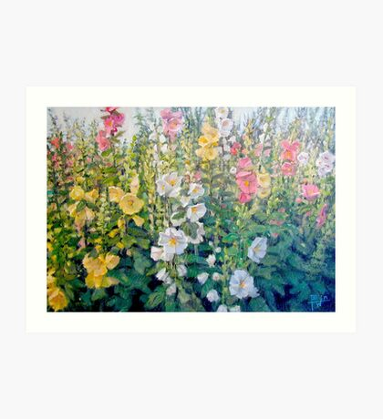 Flowers from a Catalog Art Print