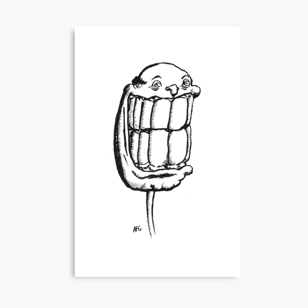Inktober 2015 Day 06 - Teeth! Canvas Print