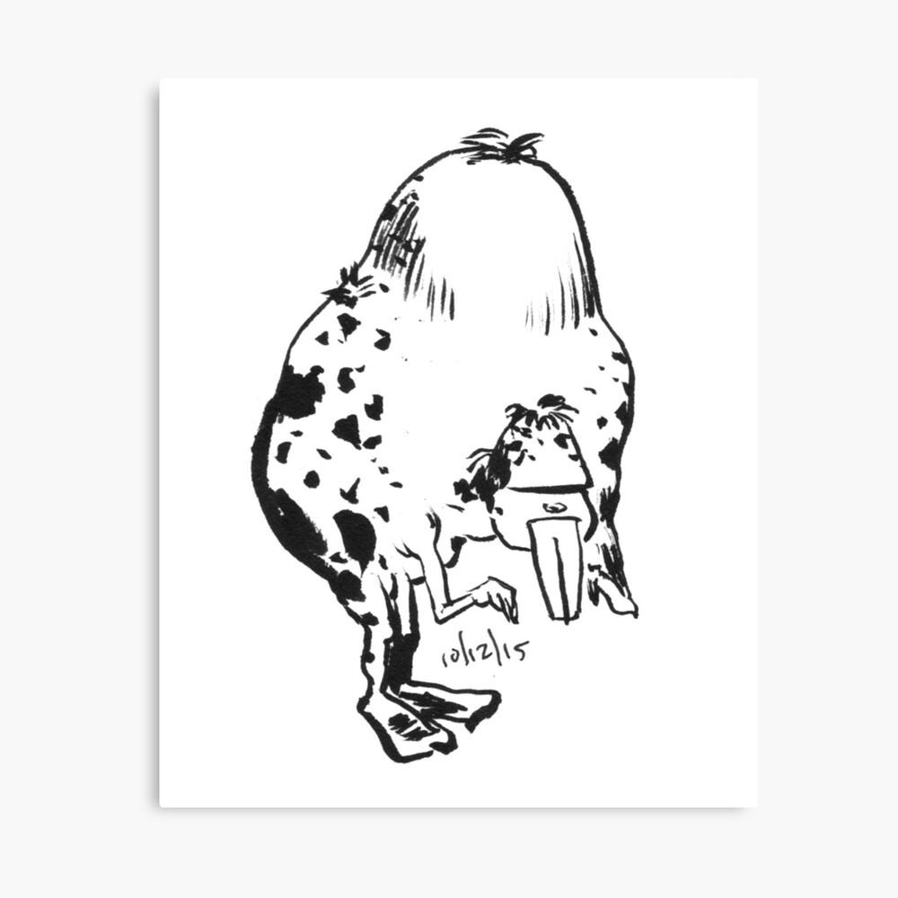 Inktober 2015 Day 12 - Humpback Canvas Print