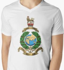 Royal Marines - RM Badge over White Leather T-Shirt