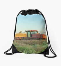 Windrowing Canola...Red Hills. Drawstring Bag