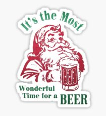 It's the most wonderful time for a beer Sticker