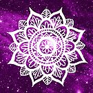 Purple Galaxy Mandala by julieerindesign