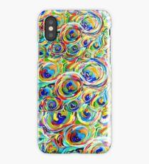 wild swirly peacock design iPhone Case/Skin