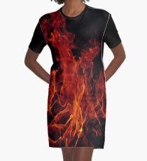 Fire Graphic T-Shirt Dress