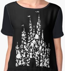 Happiest Castle On Earth Inverted Chiffon Top
