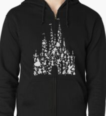 Happiest Castle On Earth Inverted Zipped Hoodie