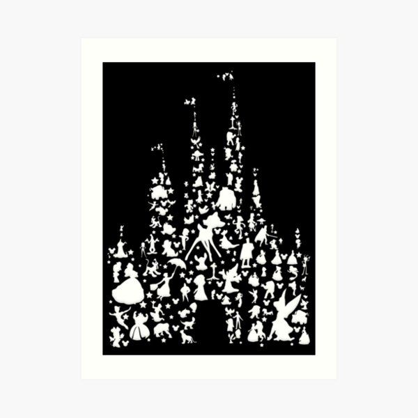 Happiest Castle On Earth Inverted Art Print