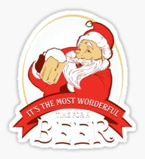 Christmas It's the Most Wonderful Time for a Beer Sticker