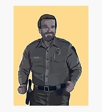 Dancing Jim Hopper - Stranger Things Photographic Print