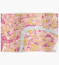 Colorful London map Poster