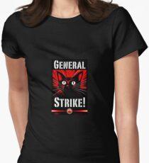 IWW General Strike Sabocat Women's Fitted T-Shirt