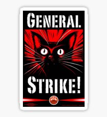 IWW General Strike Sabocat Sticker