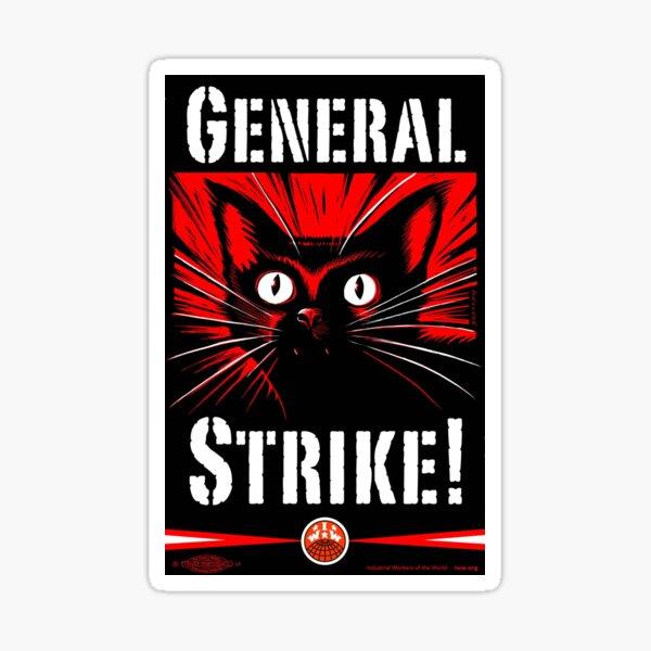 IWW General Strike Sabocat Pegatina