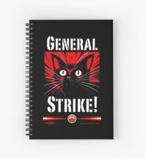 IWW General Strike Sabocat Spiral Notebook