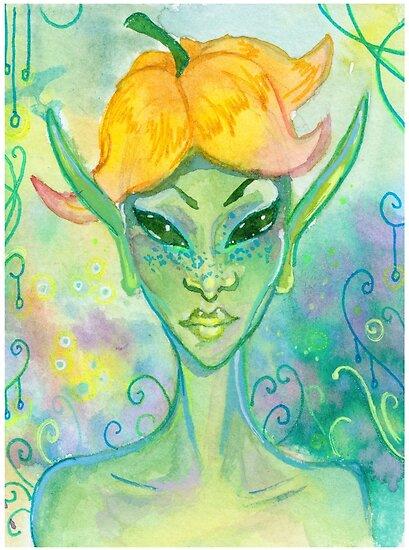 Fairy - Fantasy Faces Series by aztlanean