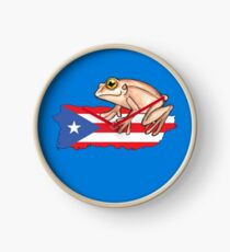 El Coqui de Puerto Rico Clock