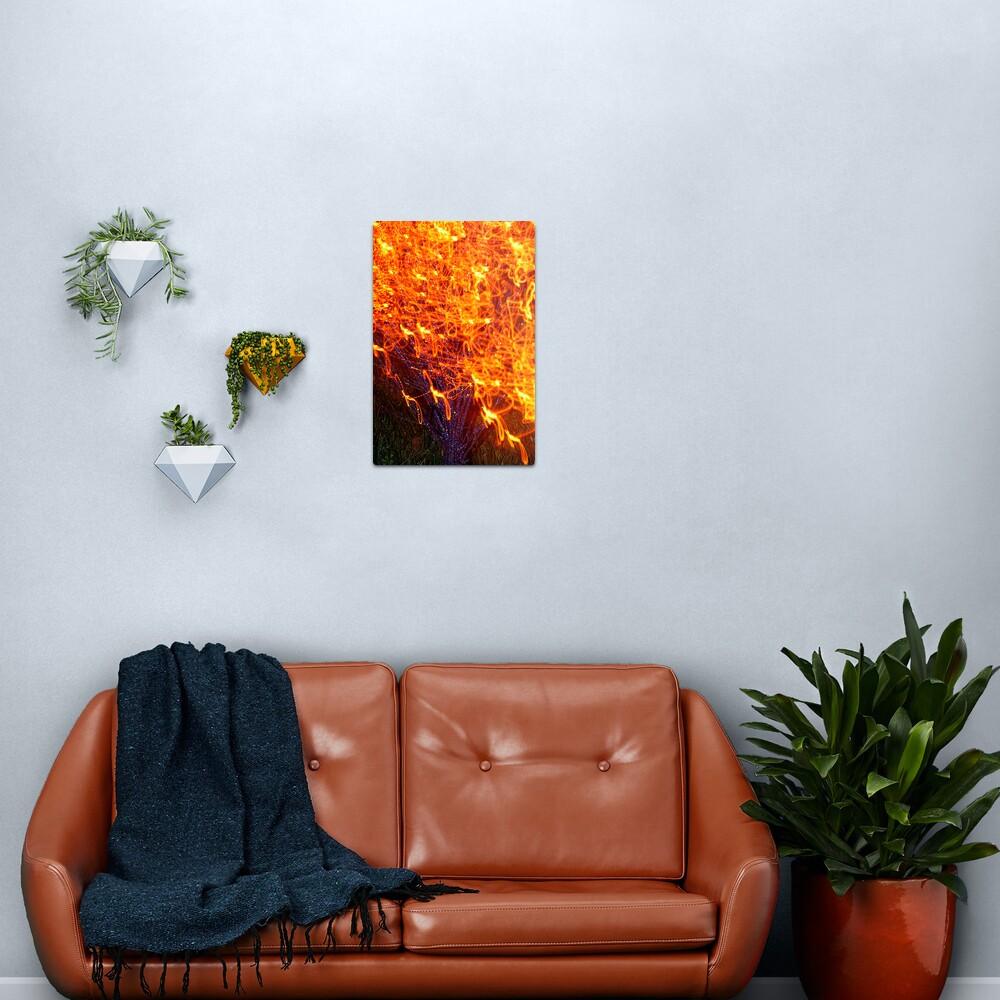 Burning Bush Metal Print