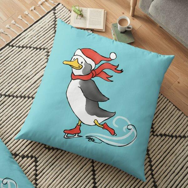 Penguin On Ice Floor Pillow