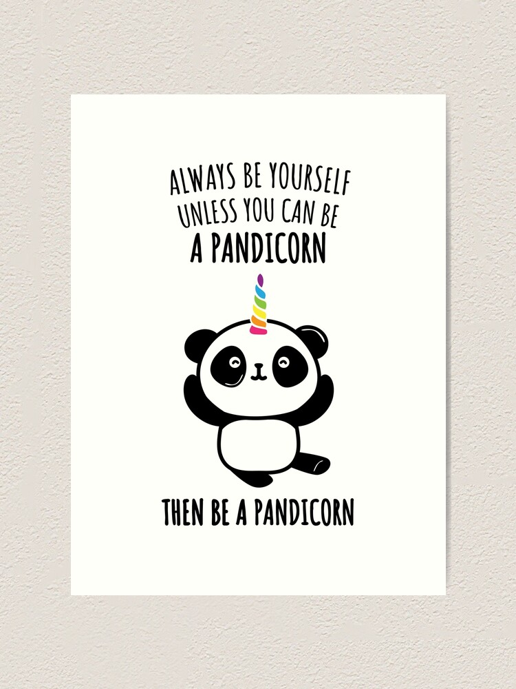Ladies Keep Calm And Be A Pandicorn Panda Unicorn Magical Myth Funny T-Shirt Tee