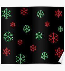 Christmas Snowflakes Poster