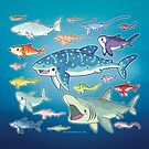 20 Shark Species Size Chart by bytesizetreas