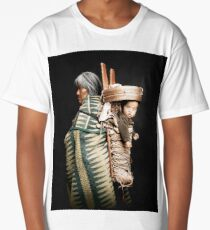 Navajo Indian carrying baby Long T-Shirt
