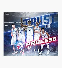 The Process Sixers Embiid Basketball Art Photographic Print