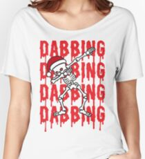 Dabbing Skeleton Xmas Zombie Dab Dance  Women's Relaxed Fit T-Shirt