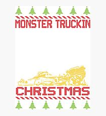 Ugly Christmas Monster Truck Photographic Print
