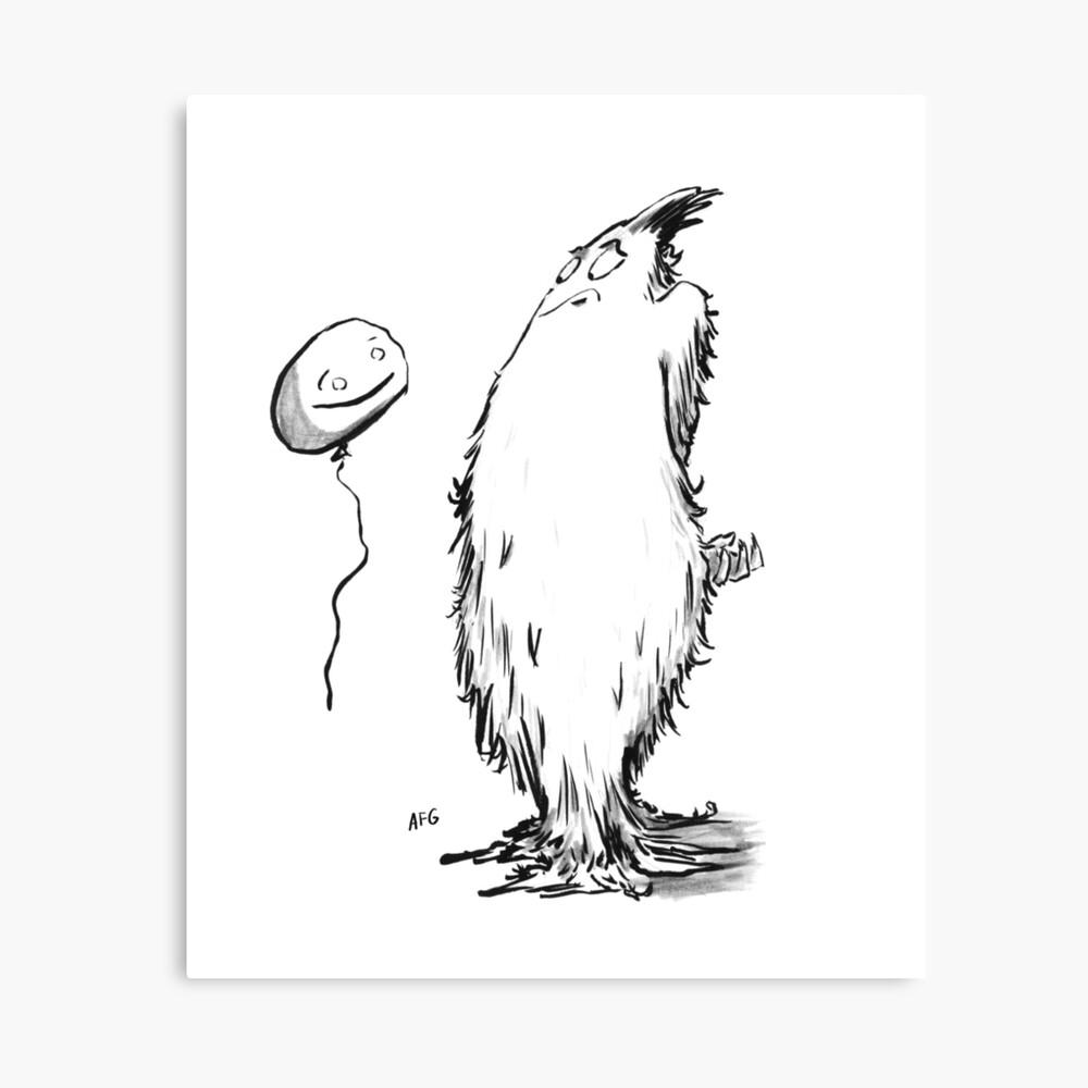 Inktober 2016 Day 10 - Balloon Canvas Print