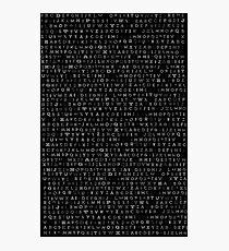 Multi Typographic Alphabet Photographic Print
