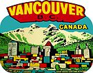 Downtown Vancouver BC Vintage Travel Decal by hilda74