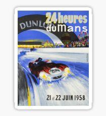 1958 24h Le Mans Grand Prix Automobile Race Poster Sticker