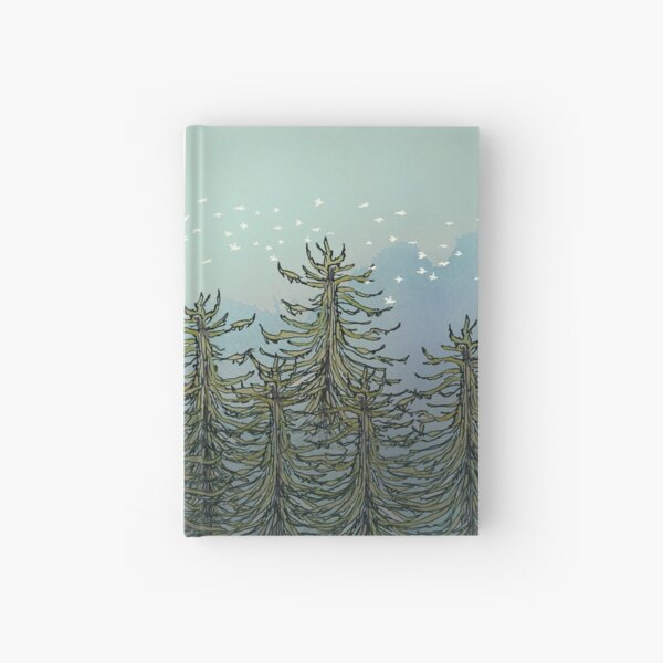 Robot in Redwoods Hardcover Journal