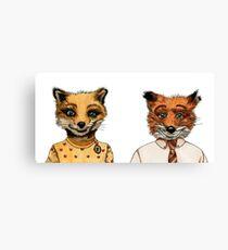 Mr. and Mrs. Fox Canvas Print