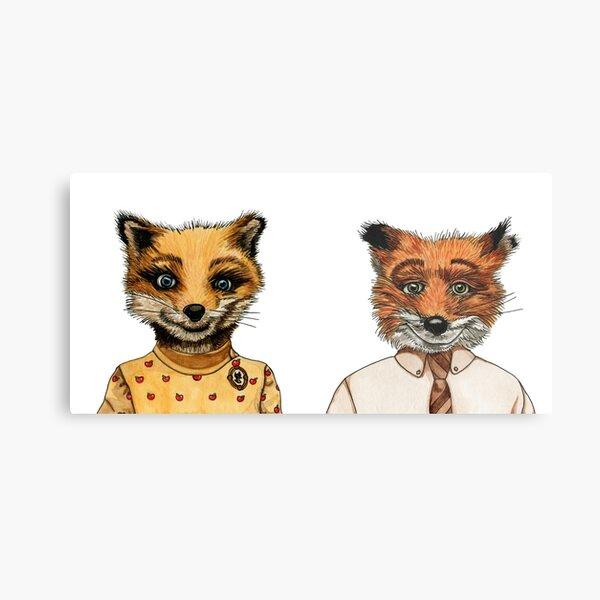 Mr. and Mrs. Fox Metal Print