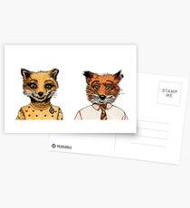 Mr. and Mrs. Fox Postcards