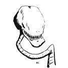 Inktober 2016 Day 12 - Sharp toothed Alien Head by Aaron Gonzalez