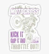 Dirt Bike Throttle Out Womens Sticker