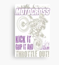 Dirt Bike Throttle Out Womens Canvas Print