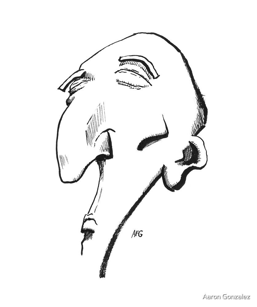 Inktober 2016 Day 13 - Big Nose by Aaron Gonzalez