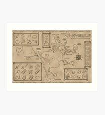 Map of Hyrule - Ocarina of Time (24x36) Art Print