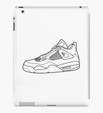 Jordan 4 sneaker outline iPad Case/Skin