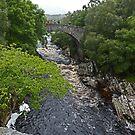 Oykel Bridge over Oykel River by Margaret  Hyde